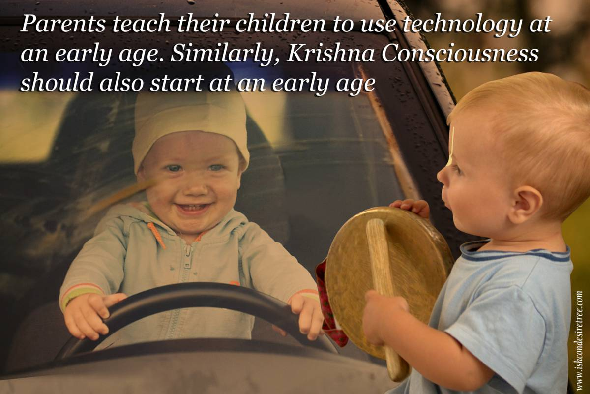 Quotes by Srila Prabhupada on Starting Krishna Consciousness at an Early Age