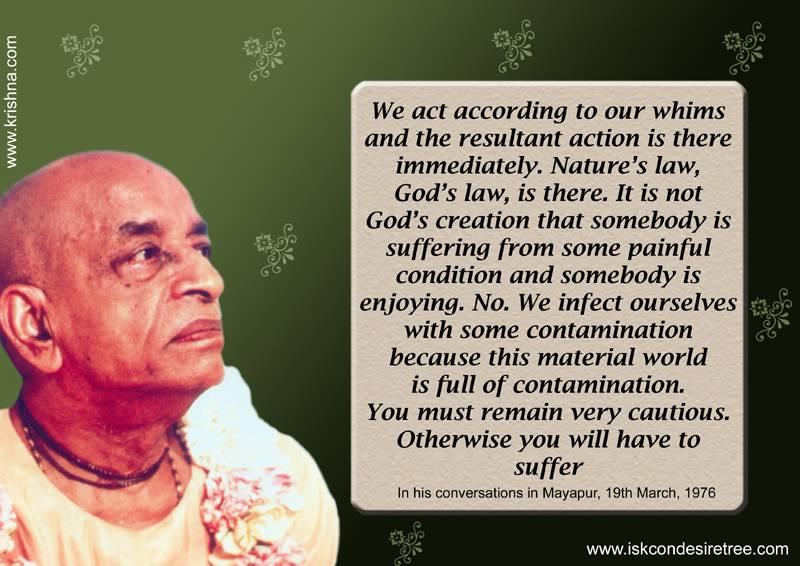 Quotes by Srila Prabhupada on Suffering