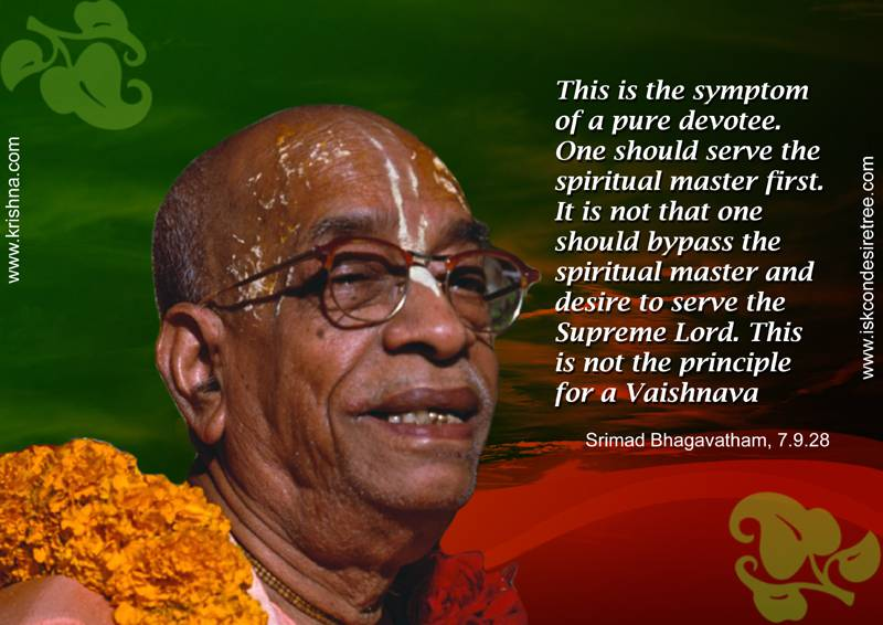 Quotes by Srila Prabhupada on Symptom of A Pure Devotee