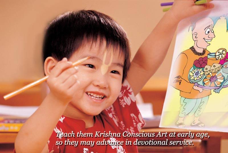 Quotes by Srila Prabhupada on Teaching Krishna Conscious Art to Children