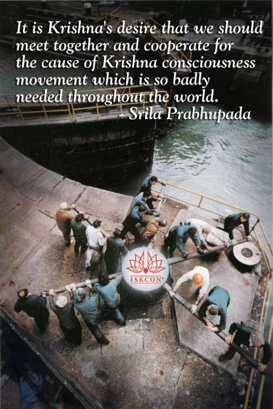 Quotes by Srila Prabhupada on The Krishna Consciousness Movement