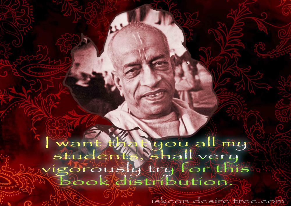 Quotes by Srila Prabhupada on Trying For Book Distribution