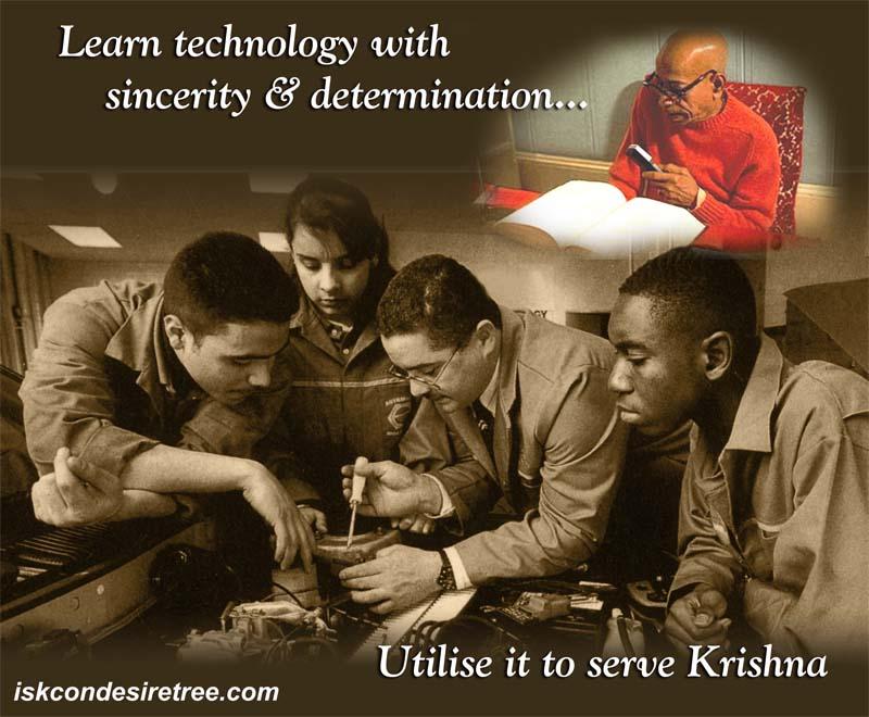 Quotes by Srila Prabhupada on Using Technology in Serving Krishna