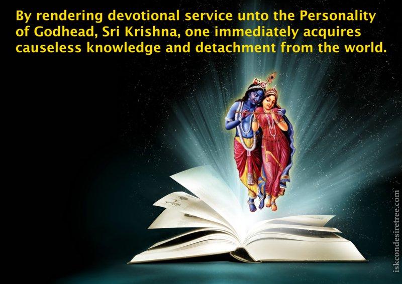 Srimad Bhagavatam on Benefits of Rendering Devotional Service