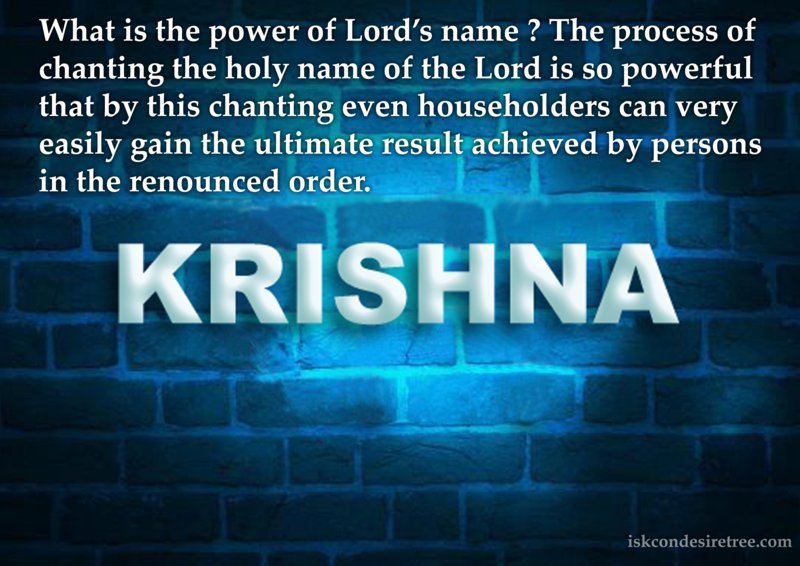 Srimad Bhagavatam on Power of The Lord's Name