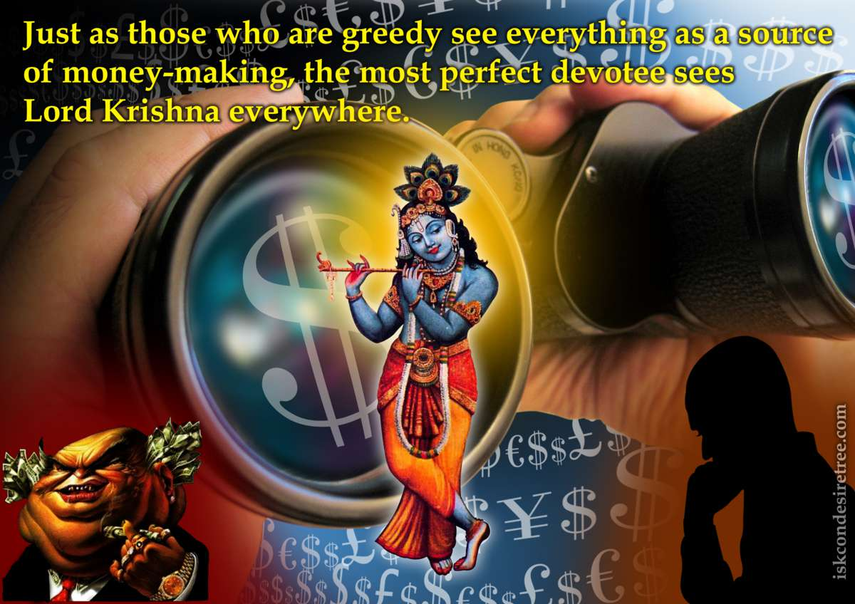 Srimad Bhagavatam on Seeing Lord Krishna Everywhere