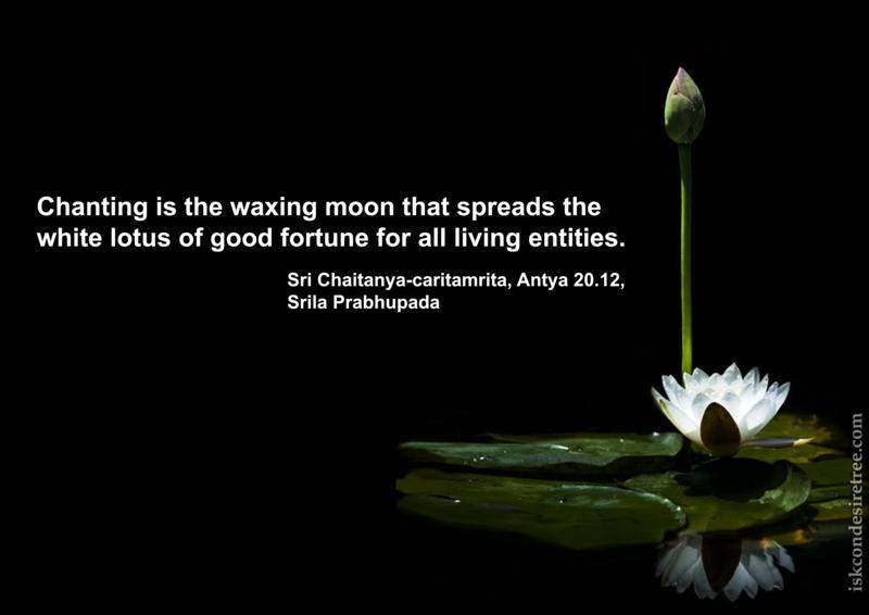 Chaitanya Caritamrta on Chanting