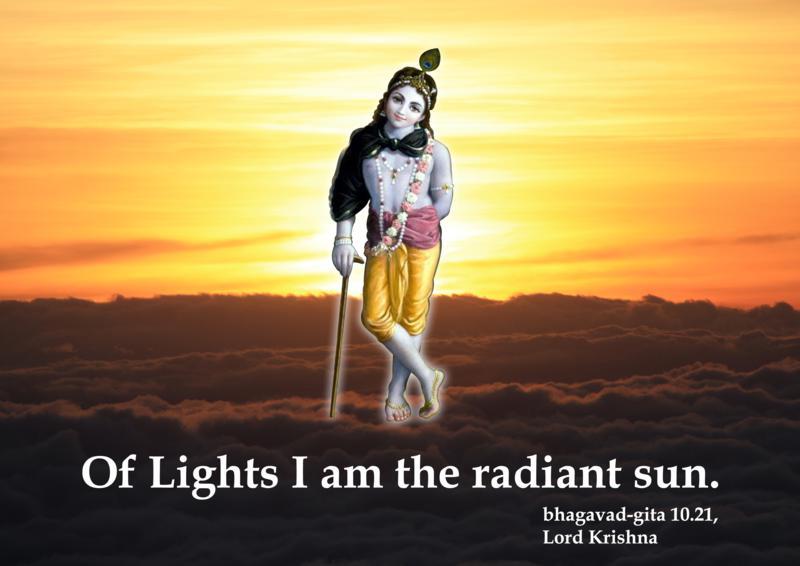 Lord Krishna on His Opulence