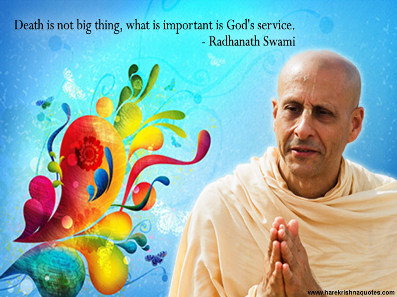 Radhanath Swami on Death