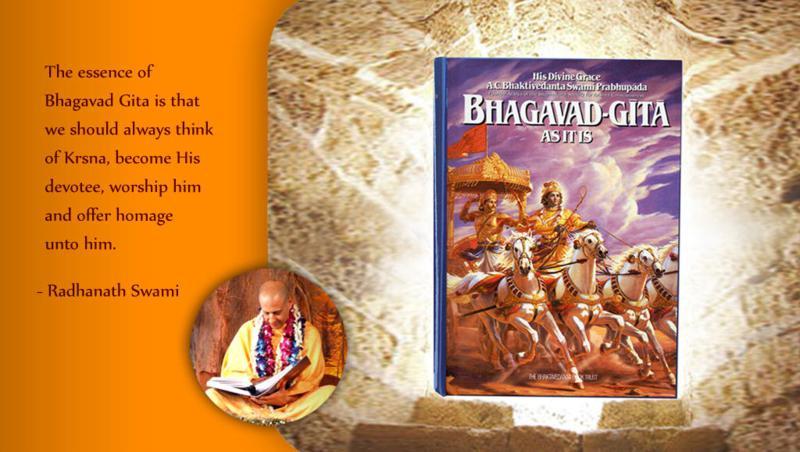 Radhanath Swami on Essence of Bhagavad Gita
