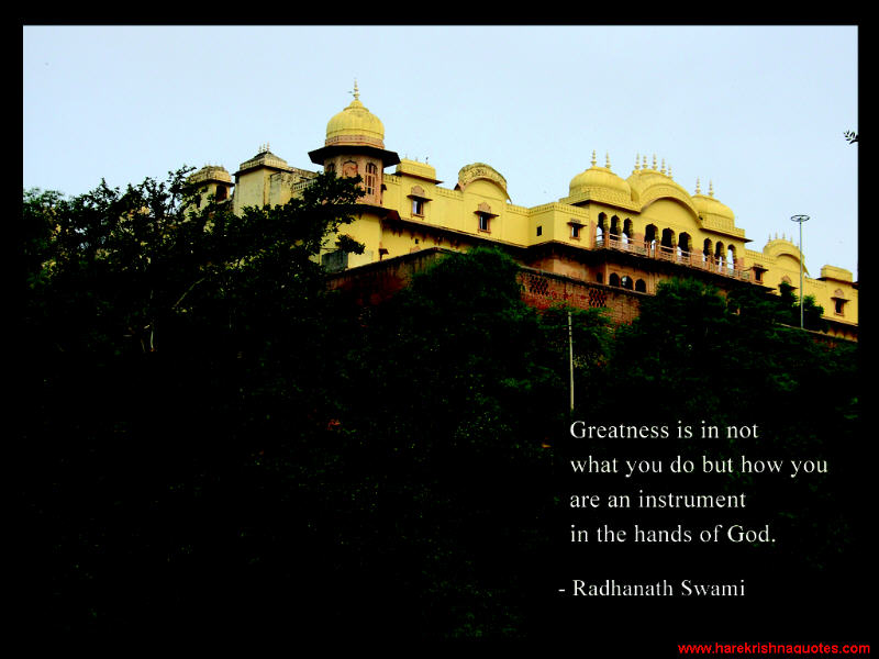 Radhanath Swami on Greatness