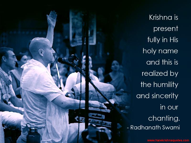 Radhanath Swami on Humility and Sincerity