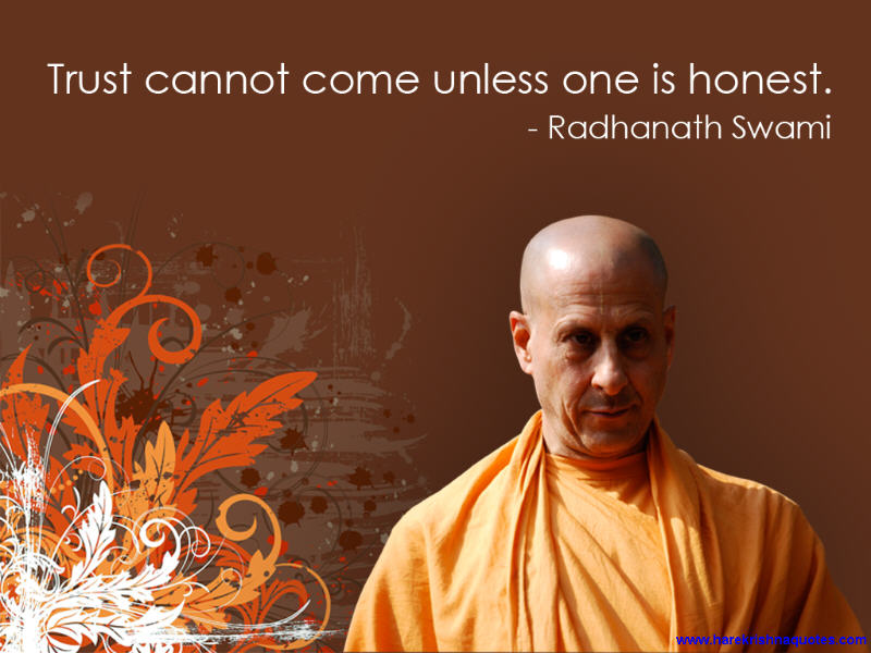 Radhanath Swami on Pre-Requisite for Trust