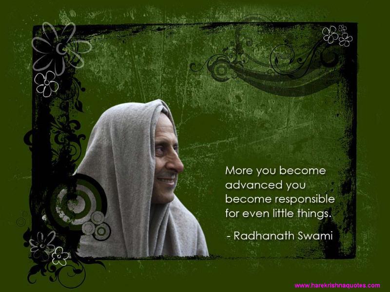 Radhanath Swami on Responsibility With Advancement