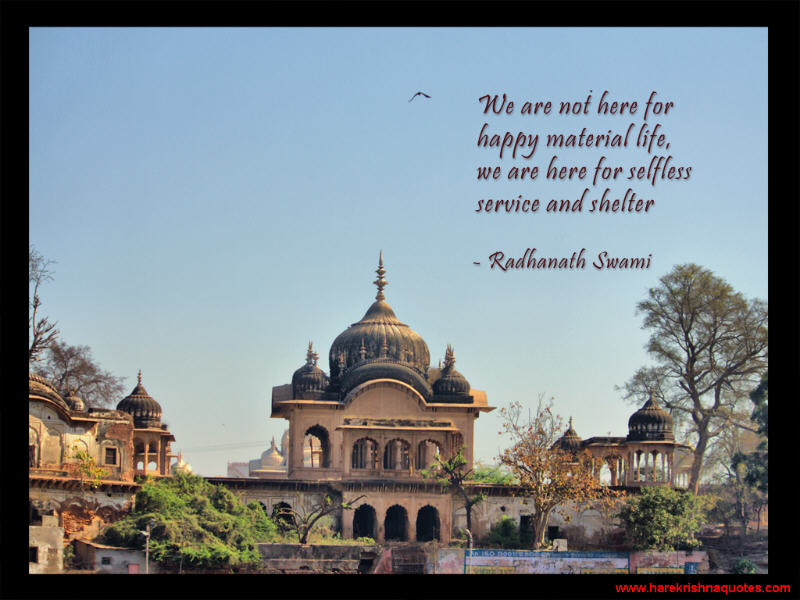 Radhanath Swami on Selfless Service and Shelter