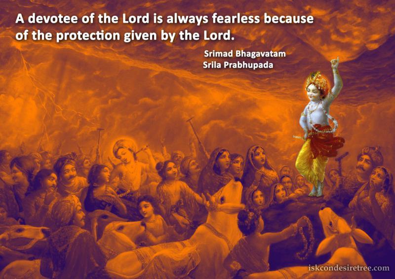 Srila Prabhupada on Reason of Fearlessness