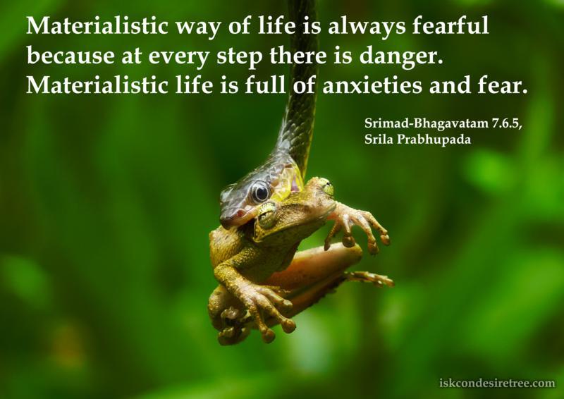Srimad Bhagavatam on Materialistic Life