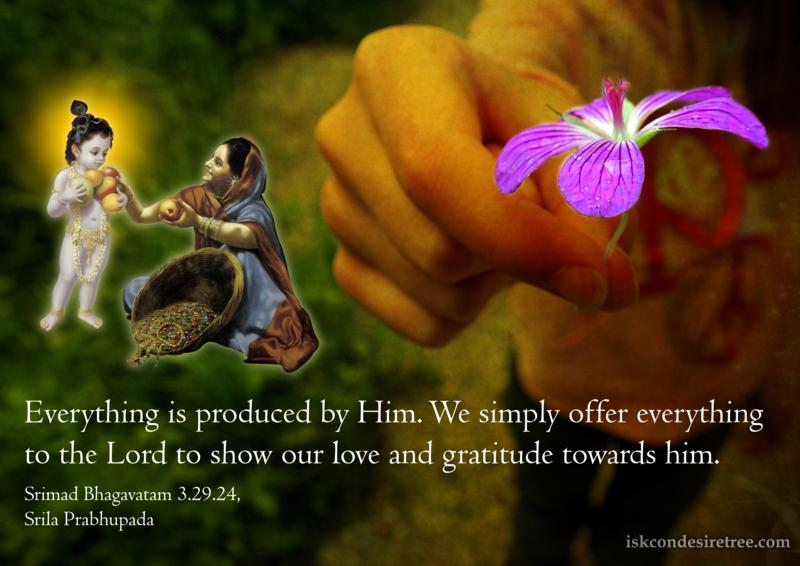 Srimad Bhagavatam on Offering Everything to The Lord
