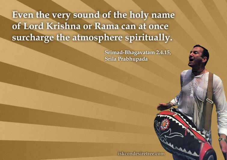 Quotes by Srimad Bhagavatam on Holy Name