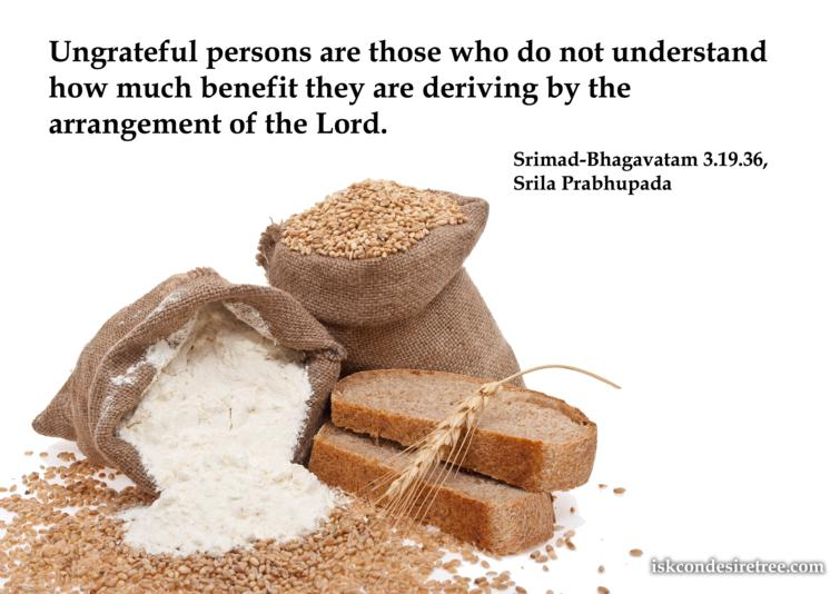 Quotes by Srimad Bhagavatam on Ungrateful Persons