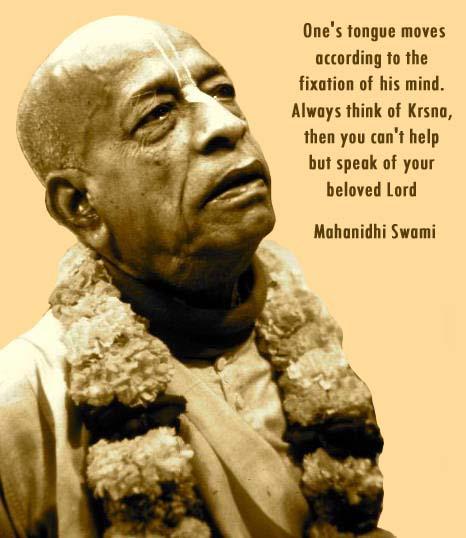 Mahanidhi Swami on Krishna Consciousness
