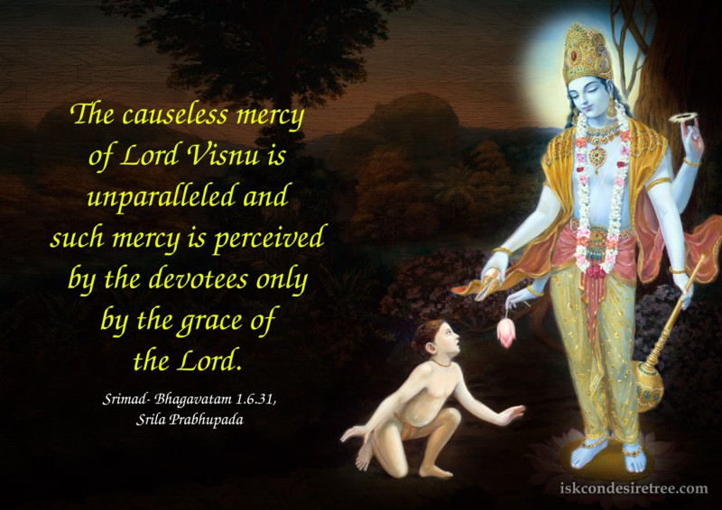 Srila Prabhupada on Causeless Mercy of Lord Visnu