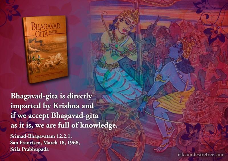 Srila Prabhupada on Effect of Accepting Bhagavad Gita As It Is