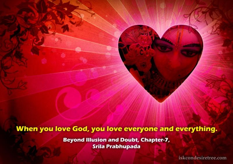 Srila Prabhupada on Effect of Loving God