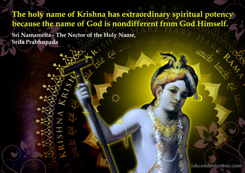 Srila Prabhupada on Potency of The Holy Name of Lord Krishna