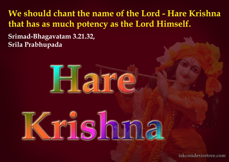 Srila Prabhupada on Potency of The Name of The Lord