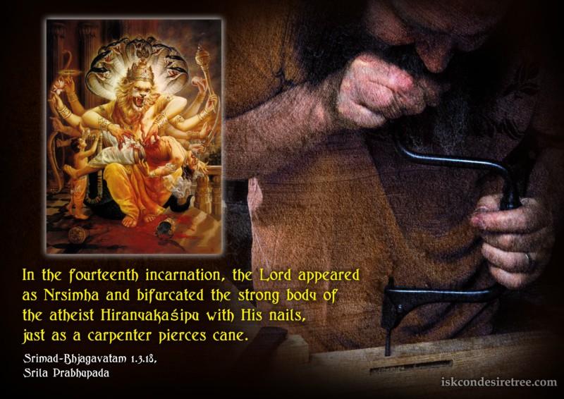 Srimad Bhagavatam on Fourteenth Incarnation of The Lord