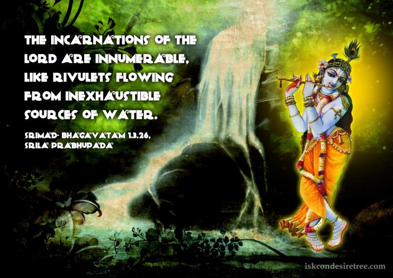 Srimad Bhagavatam on Incarnations of The Lord