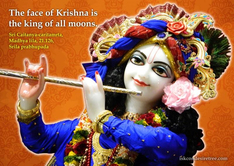 Chaitanya Caritamrta on Krishna's beautiful face
