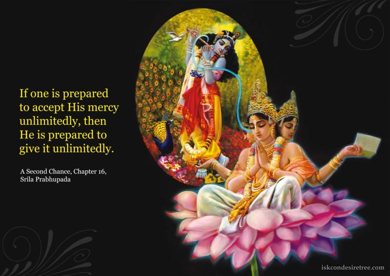 Srila Prabhupada on Accepting Krishna's Mercy