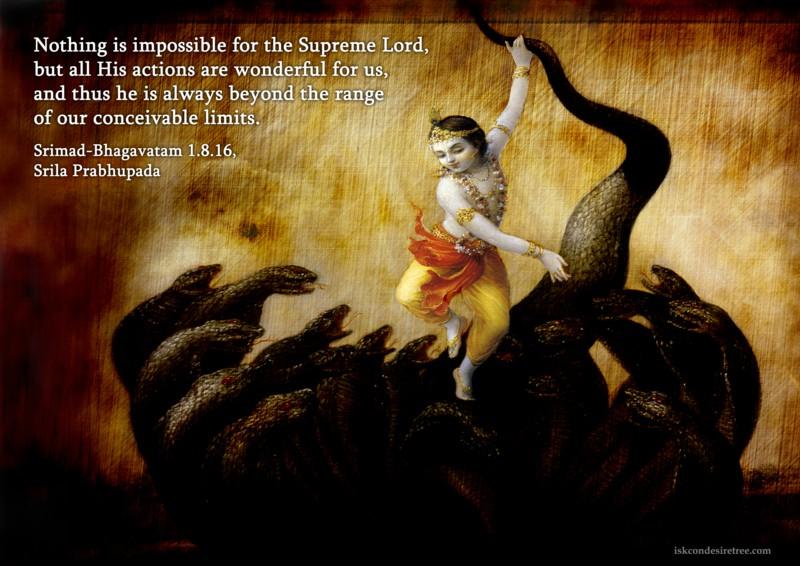 Srila Prabhupada on Actions of The Supreme Lord