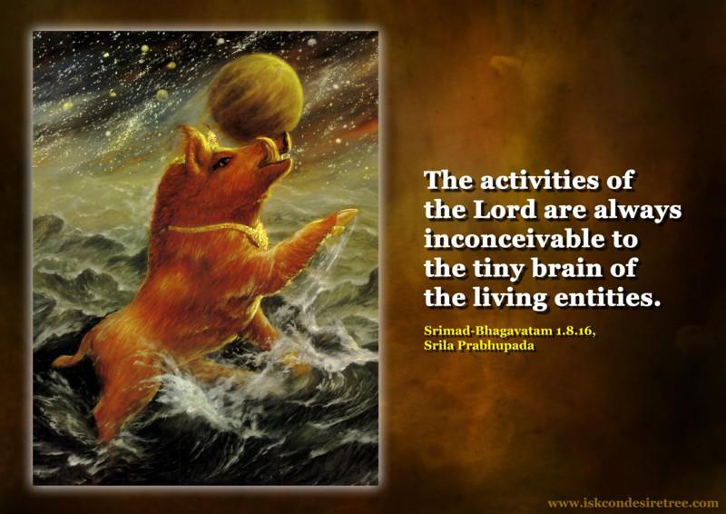 Srila Prabhupada on Activities of The Lord
