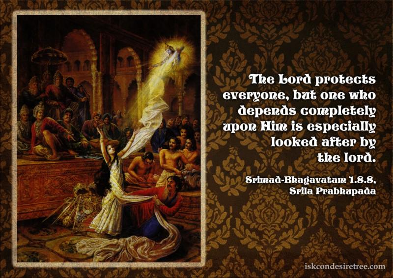 Srila Prabhupada on Lord's Protection