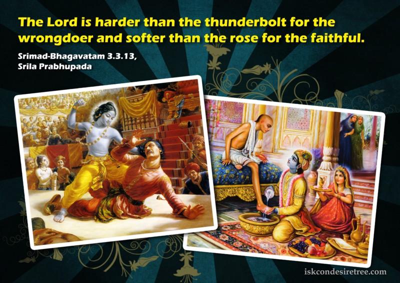 Srila Prabhupada on Lord's Relation With The Wrongdoer And The Faithful
