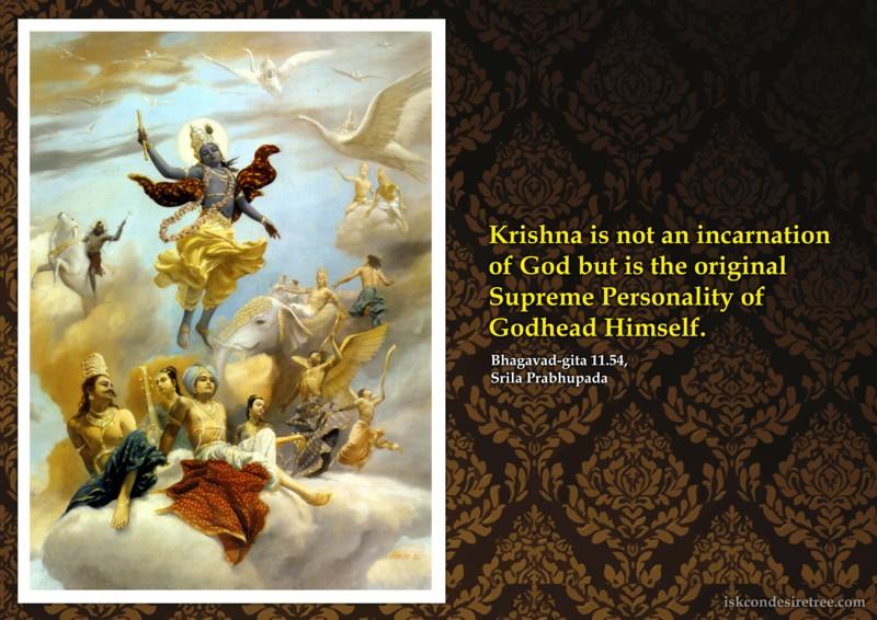 Srila Prabhupada on Original Supreme Personality of Godhead