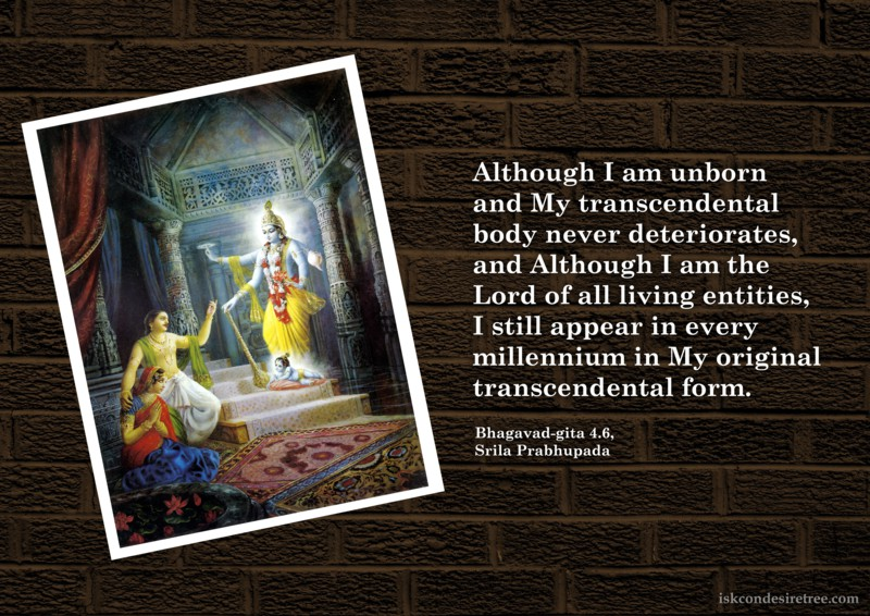 Bhagavad Gita on Appearance of The Supreme Lord In Every Millenium