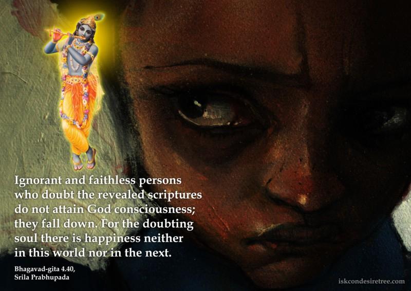 Bhagavad Gita on Doubting Soul