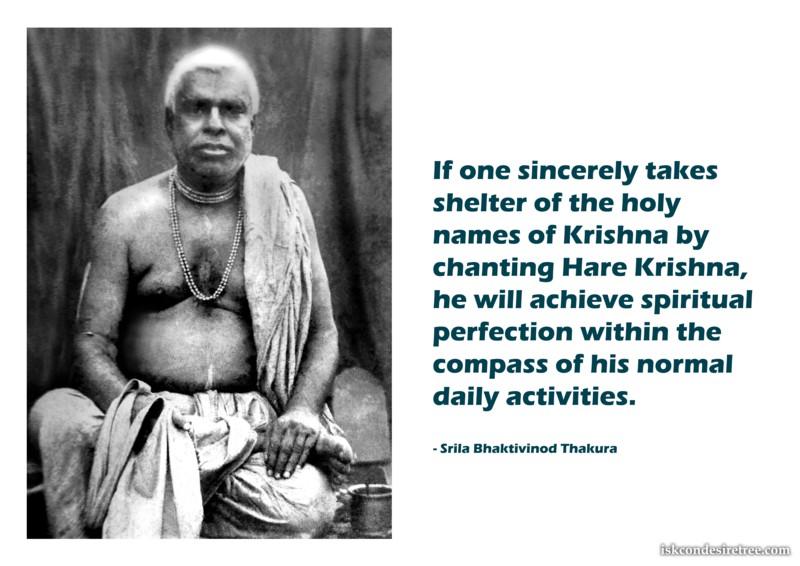 Bhaktivinoda Thakur on Achieving Spiritual Perfection