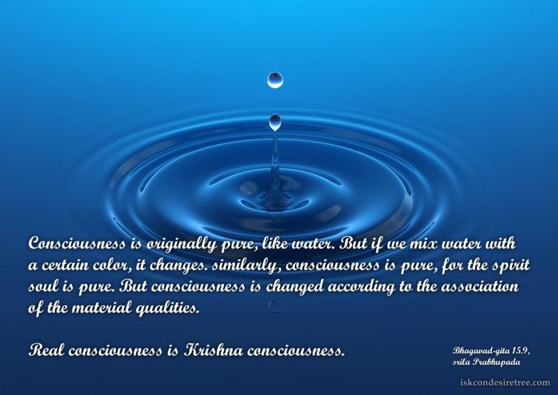Srila Prabhupada on Consciousness