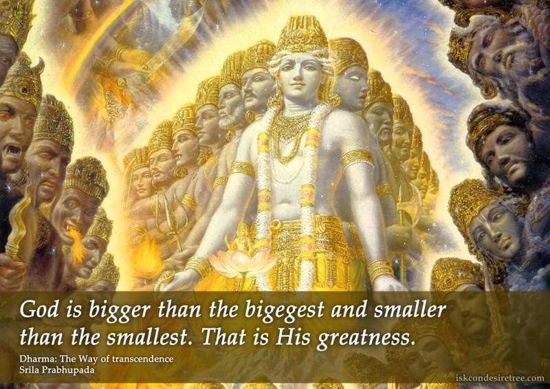 Srila Prabhupada on God's Greatness