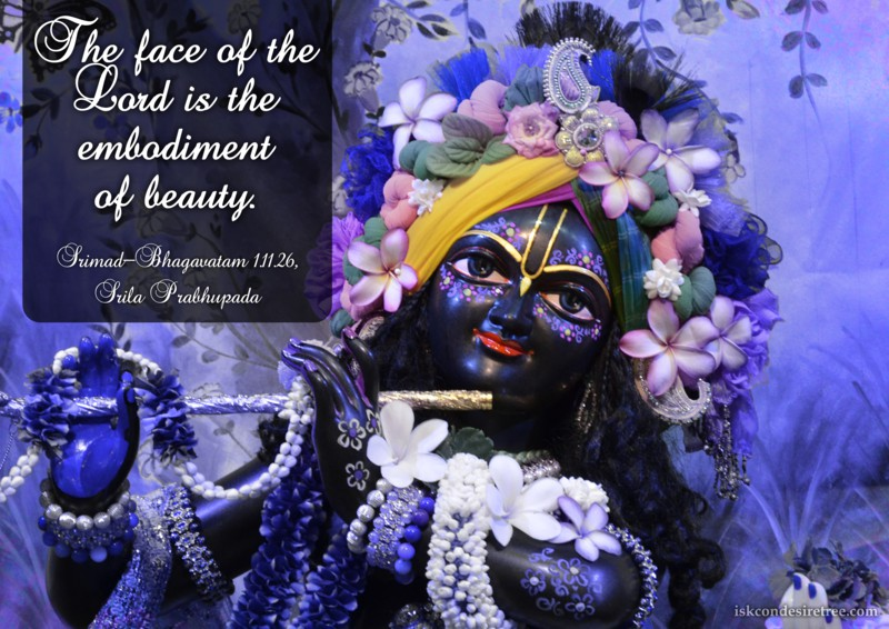 Srila Prabhupada on Lord's Face