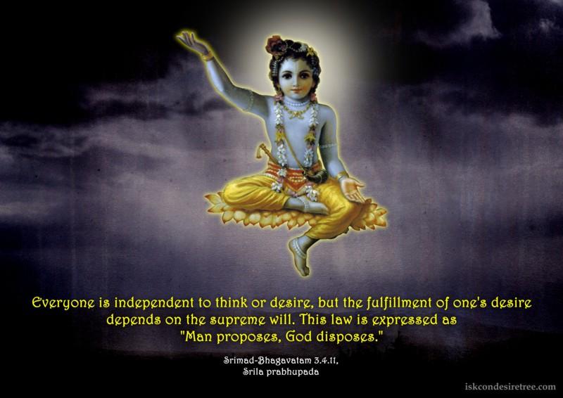 Srila Prabhupada on Man Proposes, God Disposes