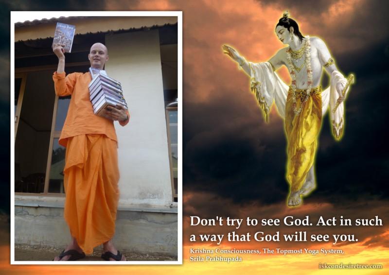 Srila Prabhupada on Our Actions