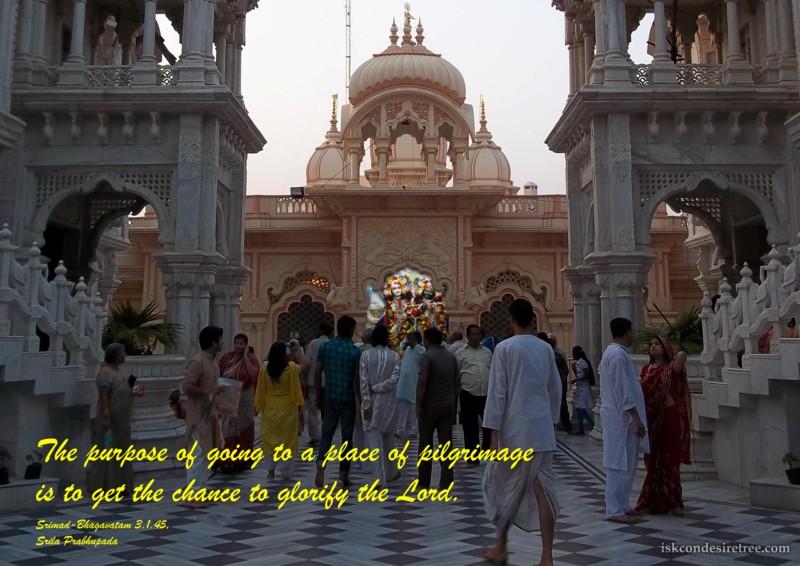 Srila Prabhupada on Purpose of Going To a Place of Pilgrimage