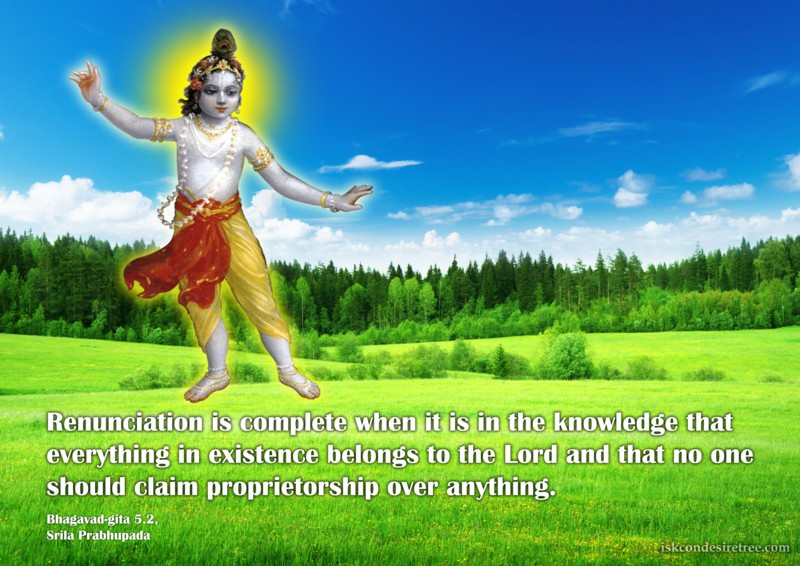 Srila Prabhupada on Renunciation