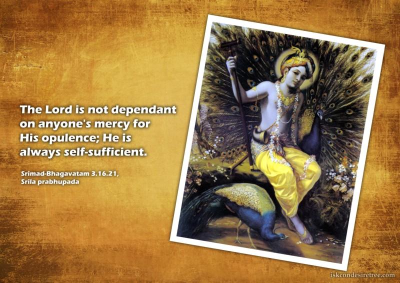 Srila Prabhupada on Self-Sufficient Lord
